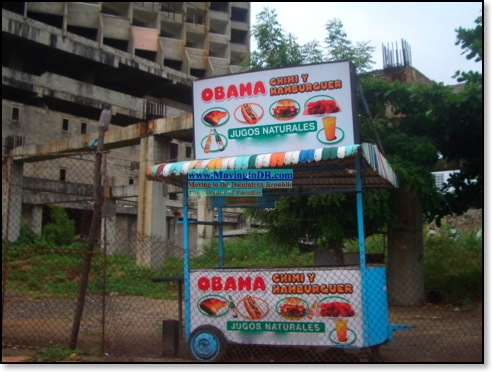 Obama Chimi Cart Santo Domingo Dominican Republic