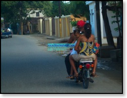 Dominican Republic picture-six people riding on a moto