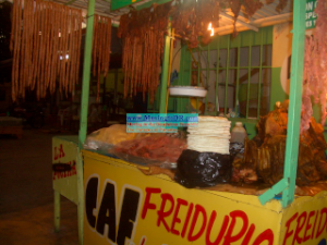 Dominican Republic food and fried meat